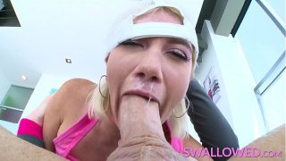 SWALLOWED Blue eyed Zelda Morrison loves to suck cock